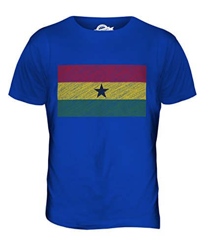 CandyMix Ghana Kritzelte Flagge Herren T Shirt Königsblau