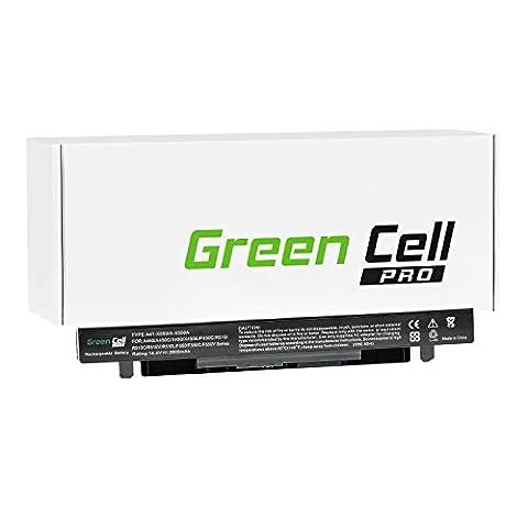 Green Cell® PRO Série Batterie pour Asus X550L Ordinateur PC Portable (Les Cellules Originales SDI, 4 Cellules, 2600mAh, Noir)