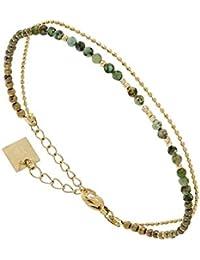 b8eb0a2bfc5ff Zag Bijoux Multi-Strand Beaded Bracelet (Turquoise)