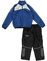 Hummel Chándal de fútbol 2piezas Set Juniors azul/WHT fútbol Track Top para hombre, Age 6 (122cm Height)