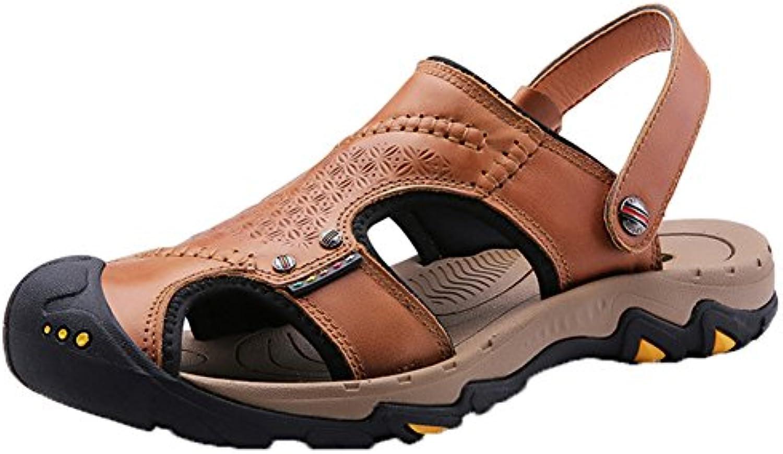 Insun Sandalias de Senderismo para Hombre Cuero Sandalias de Playa -