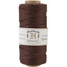 Hemptique Bakers Twine, Hilo de Bobina de cable 205 20 lb de bambú negro, otros, multicolor.