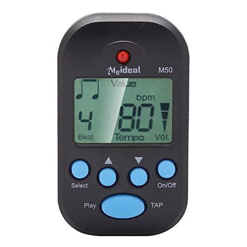 Mini Metronom, LCD Digital M50 Metronom Tragbares Clip-On Beat Tempo Metronom für Klavier, Violine, Gitarre, Trap Drum(Schwarz)