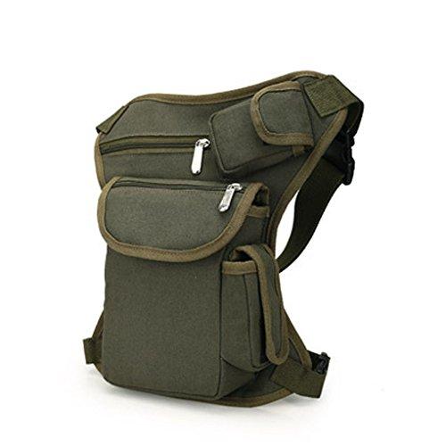 Miaomiaogo Borsa da viaggio multifunzione sportiva all'aperto con borsa a tracolla Army Green