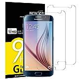 NEW'C Verre Trempé pour Samsung Galaxy S6,[Pack de 2] Film Protection écran - Anti Rayures - sans Bulles d'air -Ultra Résistant (0,33mm HD Ultra Transparent) Dureté 9H Glass