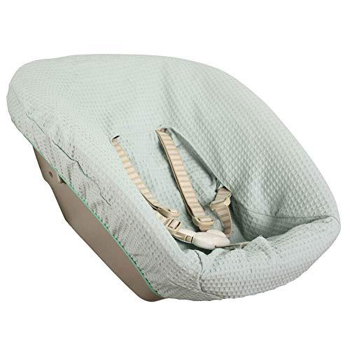 Bezug Stokke Tripp Trapp Newborn Set Mintgrün Einfarbig Waffelpique Öko-Tex 100 Baumwolle Recycelbar Schweißabsorbierend und Weich für Ihr Baby