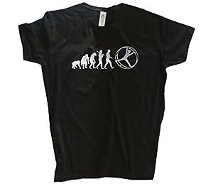 Silber Edition Rhönrad Geräteturnen Leichtathletik Evolution Girlie-Shirt...