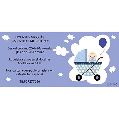 Desconocido Invitaciones Bautizo Original