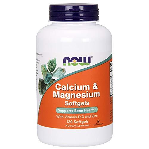 Now Foods Calcium & Magnesium Softgels Mit Vitamin D-3 und Zink 120 Kapseln -