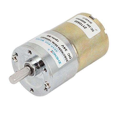 Sourcingmap - Dc 24v 50 rpm 2 pin motore riduttore di marce elettrico
