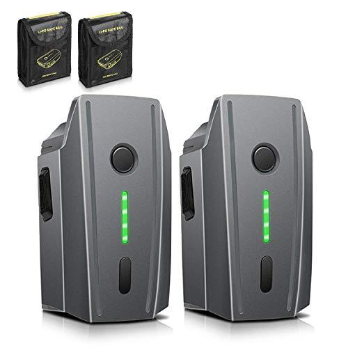 Mavic Pro Batterie Akku 2er-Packung ENEGON 11,4V 3830mAh Intelligenter Flug LiPo Ersatzbatterie + Schützende Aufbewahrungstasche für DJI Mavic Pro & Platinum & Alpine White(nicht für Mavic 2 geeignet)