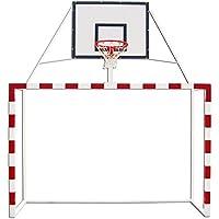 Portería balonmano con canasta minibasket tablero DM aro macizo altura basket. Redes incluidas
