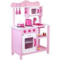 boppi- Cocina de madera para niños con 19 accesorios