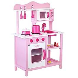 boppi® – Cucina in Legno Giocattolo per Bambini con 19 Accessori