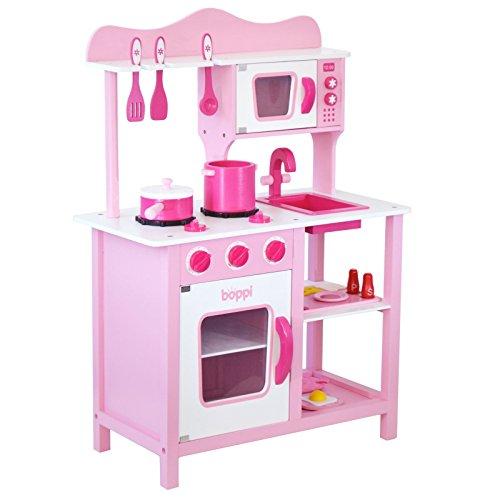 Boppi - Cucina in legno per bambini con 19 accessori