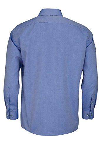 OLYMP Luxor modern fit Hemd extra langer Arm Muster blau AL 69 Blau