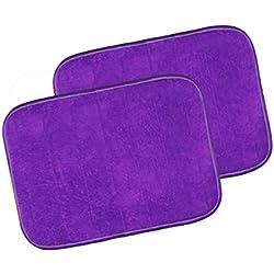 """Warmland Anti Skid Solid 2 Piece Polyester Door Mat-20""""x 30"""", Purple"""