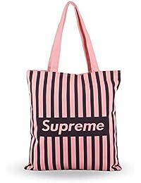 Shoppertize Latest Multipurpose Tote Bag, Designer Tote Bag,Pink Tote Bag For College Girls-Supreme Pink