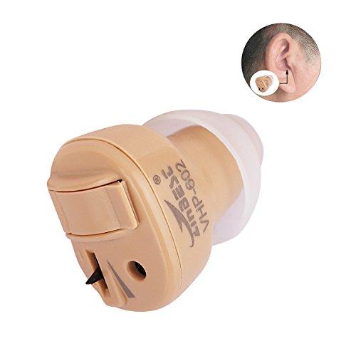 Liqoo® Super Mini Digital Hörgerät Hörverstärker Hilfsmittel Hörhilfe Sound Gerät Verstärker 1er/Pack (Hörgerätset mit Batterien + Aufsätzen)