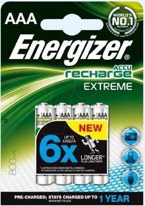 Energizer Lot de 4piles rechargeables Extreme AAA 800mAh
