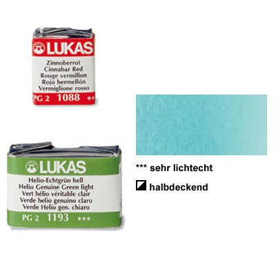 Lukas Feuchte Künstler-Aquarellfarbe 1862, 1/1 Näpfchen, Kobalt Türkis