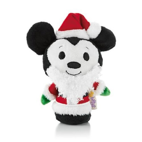 Hallmark Christmas KID3232 Christmas Itty Bitty Mickey Mouse Plush