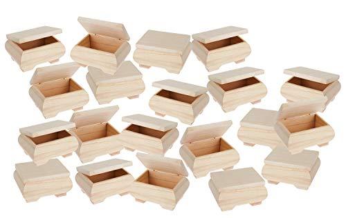 20 Holzkästchen, bauchig, 11x8x6cm, VBS Großhandelspackung