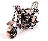 Motorrad Dekoration Modell, Bronze Retro Classic handgefertigt Eisen Motorrad Handarbeit Eisen Metall Motorrad Sammlerstück Art Skulptur Motorrad für Home Decor, Bronze, M36-1