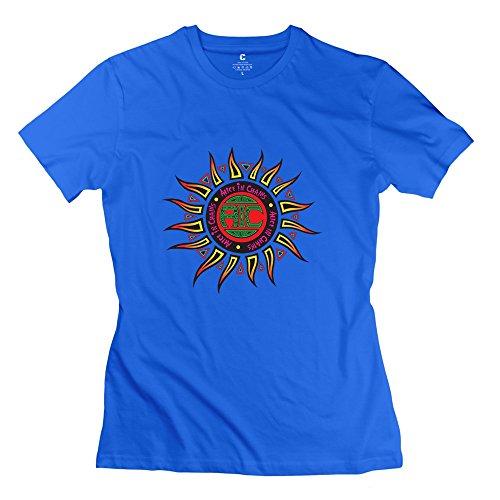 Shirt Story Toy Frau (Kst Frau Alice in Chains Logo T-Shirt Baumwolle Funny Gr. Large, Königsblau)