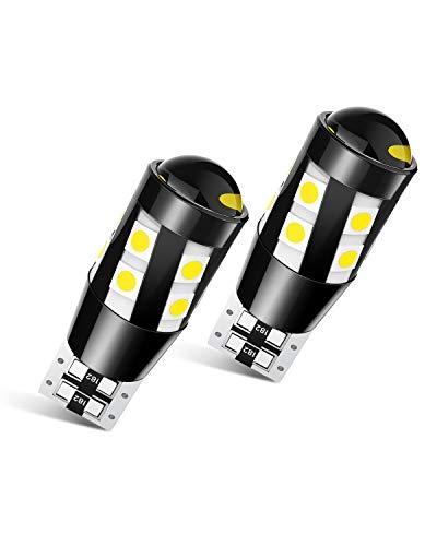 T10 W5W LED Canbus Lampadine, 3030 SMD Luce di Parcheggio, Luce Targa Auto 555 501 558 2825 175 192 168 194, 12V, 6000K Bianco, 2 Pezzi