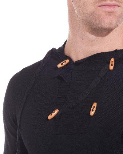 BLZ jeans - Pull noir à capuche uni Noir