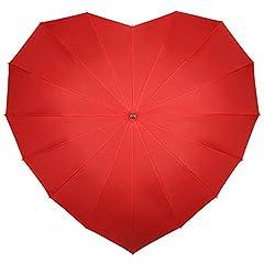 Idea Regalo - VON LILIENFELD® Ombrello Donna Classico Lungo Matrimonio Parasole Cuore rosso