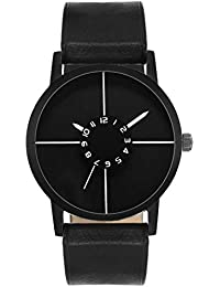 A R Sales Black Dial Analog Watch For Mens And Boys