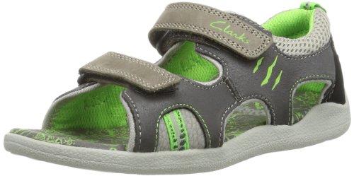 Clarks StompWave Inf 203577557, Jungen Sandalen, Grau (Grey Leather), EU 30