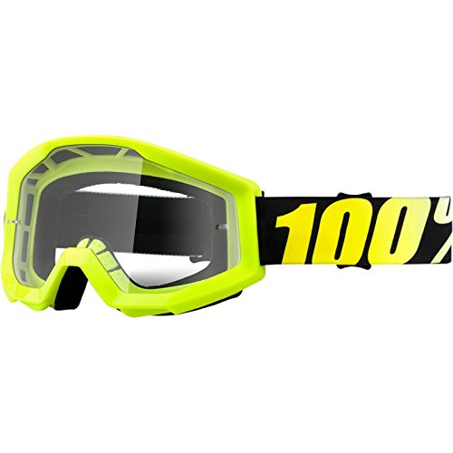 Cookie Quad (100% Goggle Strata Neon Yellow / klare Scheibe)