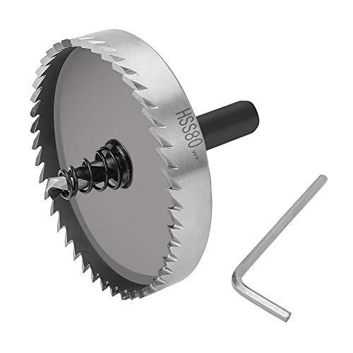 SENZEAL 80mm HSS Bohrer Lochsägen Set Cutting Kit Opener Edelstahl High Speed Stahl Metalllegierung -