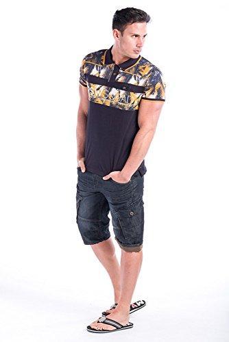 Koroshi Herren Poloshirt Marineblau