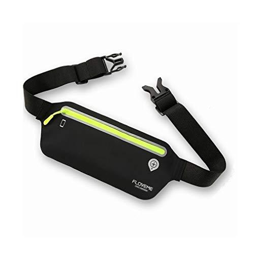 DFVmobile - Schutzhülle für Laufen Gehen Wandern Joggen Hüfttasche wasserdichte Gürteltasche Reflektierende kompatibel mit ZTE Boost WARP 4G, N9510 - Schwarz (Warp Zte Handy Von Mobile Boost)