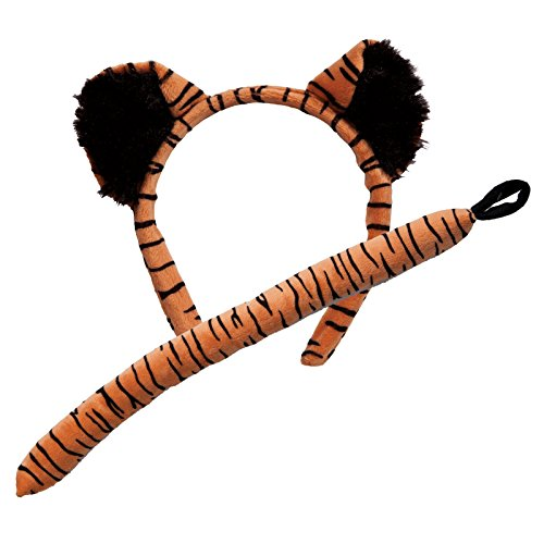 Löwe Kostüm Zubehör - Animal Ears & Tail Set - Tiger Kids Fancy Dress