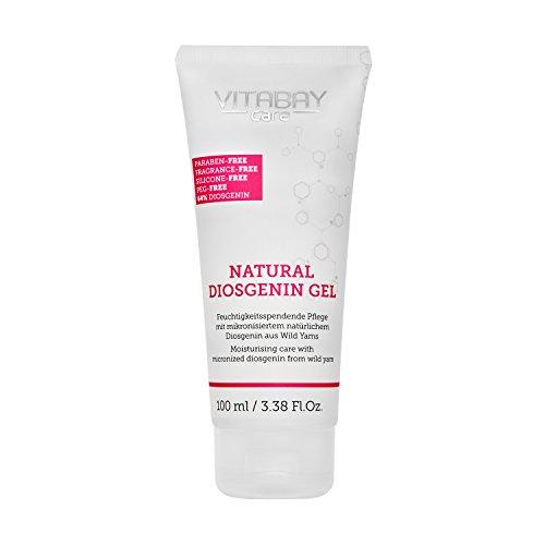 Natural Diosgenin Gel extra stark - 64% Diosgenin (aus 80% Wild Yams Extrakt) - Feuchtigkeitspflege bei hormonell bedingten Hautproblemen mit mikronisiertem natürlichem Diosgenin aus Wild Yams (100ml)