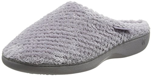 isotoner-women-ladies-popcorn-mule-open-back-slippers-grey-pale-grey-5-uk-38-eu
