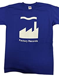 Mens Factory Records Manchester T Shirt in City Blue