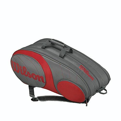 Wilson Team 12er Racket Bag Schlägertaschen, grau, 750 x 40 x 33 cm, 70 Liter
