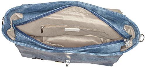 Tamaris - Vera Handbag L, borsetta tipo pochette Donna Blau (denim Comb)