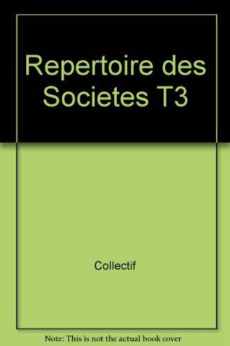 Répertoire sociétés, tome 3