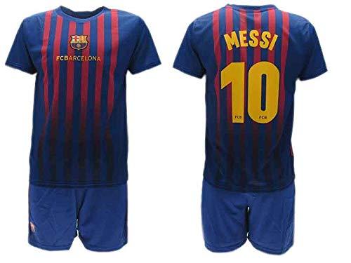 Completo Ufficiale Messi Barcelona Home 2018 2019 Blister Maglia e Pantaloncini Barcellona 10 Bimbo Bambino