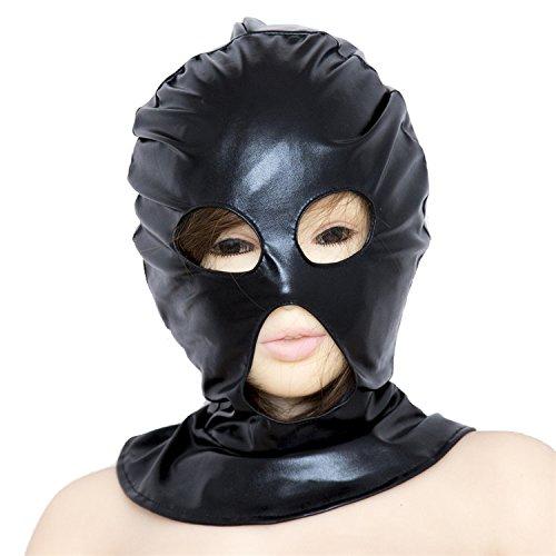 Duzzy Bondage Maske Haube Party Maske Kopfbedeckung Erwachsene Spiel Kopf Maske Uni (offene Augen und Mund) (Weibliche Gimp Kostüm)