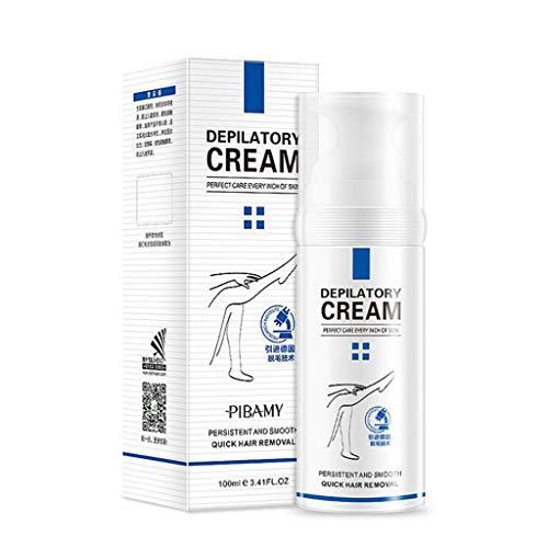 HDUFGJ Haarentfernungscreme Natürliche schmerzlose Gesichtsbehaarung aus der Creme Profi Lässt die Haut sanft, geschmeidig und seidig auch intimbereich.