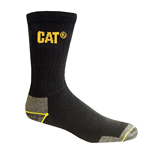 Caterpilar - Calcetines gruesos para trabajar hombre/caballero - 3 pares de calcetines 46-50 EUR/Negro...