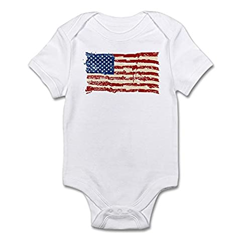CafePress - American Flag - Cute Infant Bodysuit Baby Romper